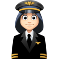 Woman Pilot: Light Skin Tone on Facebook 4.0