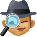 Woman Detective: Medium Skin Tone on Facebook 4.0