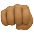 Oncoming Fist: Medium-Dark Skin Tone on Facebook 4.0