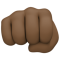 Oncoming Fist: Dark Skin Tone on Facebook 4.0