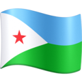 Flag: Djibouti on Facebook 4.0