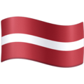 Flag: Latvia on Facebook 4.0