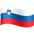 Flag: Slovenia on Facebook 4.0