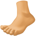 Foot: Medium Skin Tone on Facebook 4.0