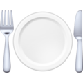 Fork and Knife with Plate on Facebook 4.0