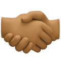 Handshake: Medium-Dark Skin Tone on Facebook 4.0