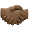 Handshake: Dark Skin Tone on Facebook 4.0