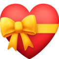 Heart with Ribbon on Facebook 4.0