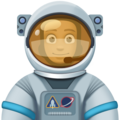 Man Astronaut: Medium-Dark Skin Tone on Facebook 4.0