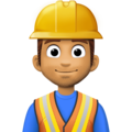 Man Construction Worker: Medium Skin Tone on Facebook 4.0