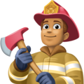 Man Firefighter: Medium Skin Tone on Facebook 4.0
