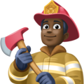 Man Firefighter: Dark Skin Tone on Facebook 4.0