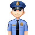 Man Police Officer: Light Skin Tone on Facebook 4.0