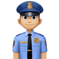 Man Police Officer: Medium-Light Skin Tone on Facebook 4.0