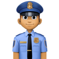 Man Police Officer: Medium Skin Tone on Facebook 4.0