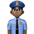 Man Police Officer: Dark Skin Tone on Facebook 4.0