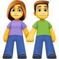 Woman and Man Holding Hands on Facebook 4.0