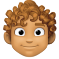 Man: Medium Skin Tone, Curly Hair on Facebook 4.0