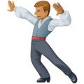Man Dancing: Medium Skin Tone on Facebook 4.0