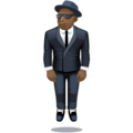 Person in Suit Levitating: Dark Skin Tone on Facebook 4.0