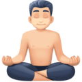 Man in Lotus Position: Light Skin Tone on Facebook 4.0