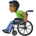 Man in Manual Wheelchair: Medium-Dark Skin Tone on Facebook 4.0
