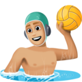Man Playing Water Polo: Medium-Light Skin Tone on Facebook 4.0