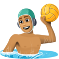 Man Playing Water Polo: Medium Skin Tone on Facebook 4.0