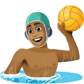 Man Playing Water Polo: Medium-Dark Skin Tone on Facebook 4.0