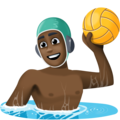 Man Playing Water Polo: Dark Skin Tone on Facebook 4.0