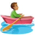Man Rowing Boat: Medium Skin Tone on Facebook 4.0