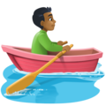 Man Rowing Boat: Medium-Dark Skin Tone on Facebook 4.0