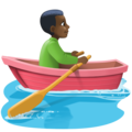 Man Rowing Boat: Dark Skin Tone on Facebook 4.0