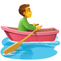 Man Rowing Boat on Facebook 4.0