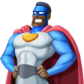 Man Superhero: Dark Skin Tone on Facebook 4.0