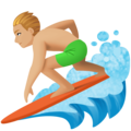 Man Surfing: Medium-Light Skin Tone on Facebook 4.0