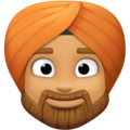 Man Wearing Turban: Medium Skin Tone on Facebook 4.0