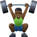 Man Lifting Weights: Dark Skin Tone on Facebook 4.0