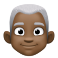 Man: Dark Skin Tone, White Hair on Facebook 4.0