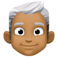 Man: Medium-Dark Skin Tone, White Hair on Facebook 4.0