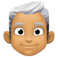 Man: Medium Skin Tone, White Hair on Facebook 4.0