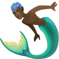 Merman: Dark Skin Tone on Facebook 4.0