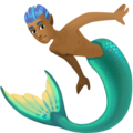 Merman: Medium-Dark Skin Tone on Facebook 4.0