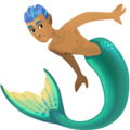 Merman: Medium Skin Tone on Facebook 4.0