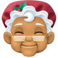 Mrs. Claus: Medium Skin Tone on Facebook 4.0