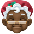 Mrs. Claus: Dark Skin Tone on Facebook 4.0
