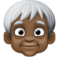 Older Person: Dark Skin Tone on Facebook 4.0