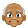 Old Man: Medium-Dark Skin Tone on Facebook 4.0