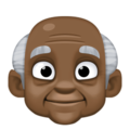 Old Man: Dark Skin Tone on Facebook 4.0