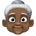Old Woman: Dark Skin Tone on Facebook 4.0